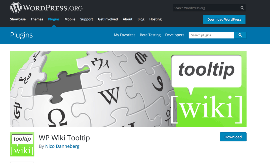 wp tooltip wiki